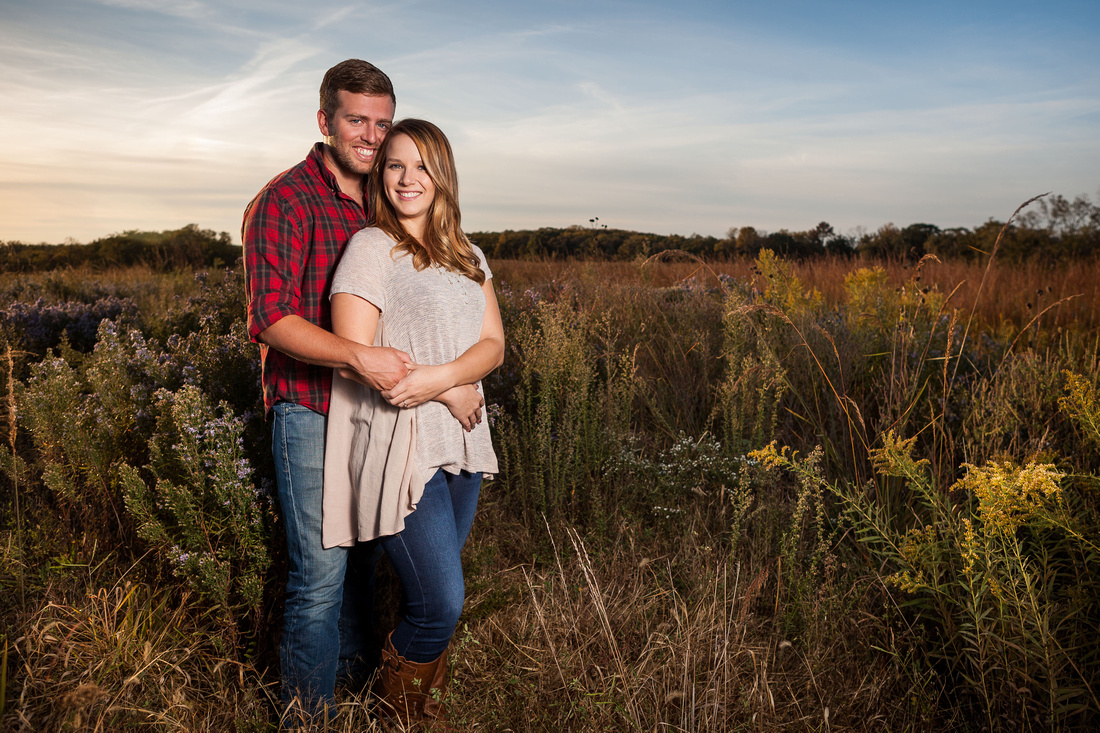 Lawrence Kansas engagement portraits